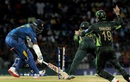 Thisara Perera is stumped off Shoaib Malik's bowling, Sri Lanka v Pakistan, 2nd T20, Colombo, August 1, 2015