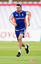 James Anderson does some fitness work, Trent Bridge, August 4, 2015