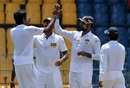 Sri Lanka Board President's XI players celebrate Virat Kohli's dismissal, Sri Lanka Board President's XI v Indians, tour match, Colombo, 1st day, August 6, 2015
