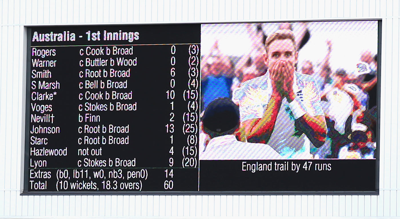 If it's Tuesday it must be Trent Bridge: Broad took eight in Nottingham in 2015, to follow up his hat-trick there in 2011 (and the kerfuffle over not walking in 2013)