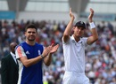 Leaders of the attack: James Anderson and Stuart Broad acknowledge the crowd, England v Australia, 4th Investec Test, Trent Bridge, 3rd day, August 8, 2015
