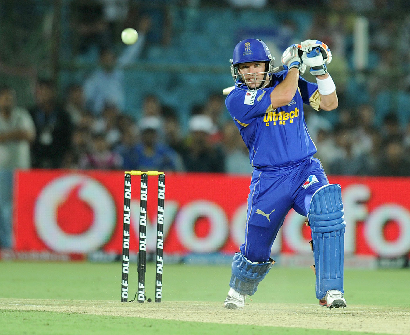 Fast-bowler slayer: Rajasthan Royals' use of Brad Hodge down the order defied conventional wisdom, but it paid off