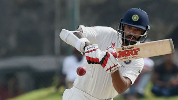 Shikhar Dhawan hits it towards long on