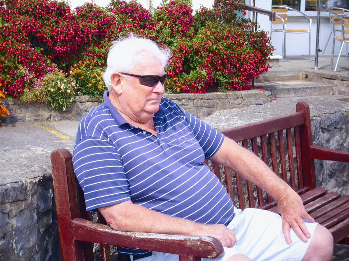 Malcolm Nash relaxes at his local golf club
