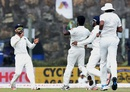 Varun Aaron struck with the first ball of the morning, Sri Lanka v India, 1st Test, Galle, 3rd day, August 14, 2015