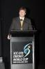 Martin Snedden delivers a speech at the ICC Under-19 World Cup opening ceremony