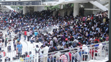 There was no shortage of attendance at the MA Chidambaram Stadium