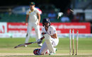 Lydia Greenway was bowled ducking a bouncer, England v Australia , Women's Ashes Test, Canterbury, 4th day, August 14, 2015