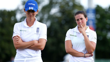 Charlotte Edwards and Georgia Elwiss contemplate defeat