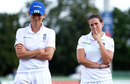 Charlotte Edwards and Georgia Elwiss contemplate defeat, England v Australia , Women's Ashes Test, Canterbury, 4th day, August 14, 2015