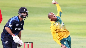 Aaron Phangiso bowled nine dots and gave three boundaries