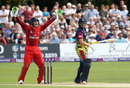 Sam Northeast fell lbw for 14, Kent v Lancashire, NatWest T20 Blast quarter-final, Canterbury, August 15, 2015
