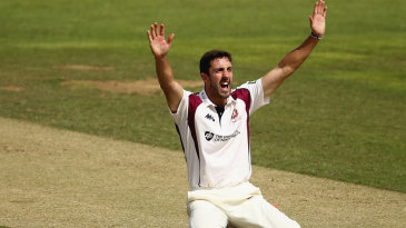 Ben Sanderson appeals for a wicket
