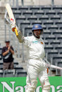 Kumar Sangakkara celebrates getting to a century, New Zealand v Sri Lanka, 1st Test, Christchurch, 3rd day, December 9, 2006