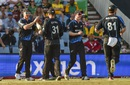 James Neesham is mobbed by his team-mates,  South Africa v New Zealand, 2nd T20I, Centurion, August 16, 2015