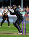 Steven Davies guides the ball away during his hundred, Somerset v Surrey, Royal London Cup, Group A, Taunton, August 17, 2015