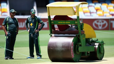 Mark Taylor and Michael Clarke take a look at the pitch