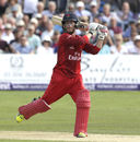 Alex Davies, Lancashire, bats during their NatWest quarter-final at Canterbury against Kent, August 15, 2015