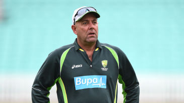 Darren Lehmann, Australia coach, supervises training at The Oval