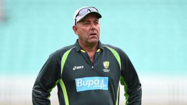 Darren Lehmann, Australia coach, supervises training at The Oval