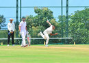 Ishwar Pandey has a bowl, India A v South Africa A, 1st unofficial Test, Wayanad, 1st day, August 18, 2015