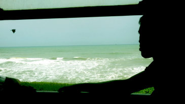 The view of the coast from the train, Galle to Colombo