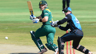 Morne van Wyk tucks the ball to the leg side