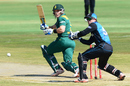 Morne van Wyk tucks the ball to the leg side, South Africa v New Zealand, 1st ODI, Centurion, August 19, 2015