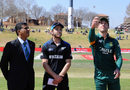 AB de Villiers flips the coin to start the series, South Africa v New Zealand, 1st ODI, Centurion, August 19, 2015