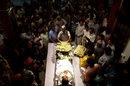 Mourners gather around the body of Ankit Keshri, Kolkata, April 21, 2015