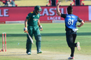Mitchell McClenaghan removed Rilee Rossouw with a yorker, South Africa v New Zealand, 1st ODI, Centurion, August 19, 2015