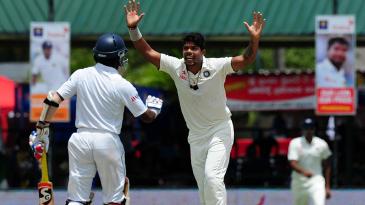Umesh Yadav dismissed Dimuth Karunaratne for 1