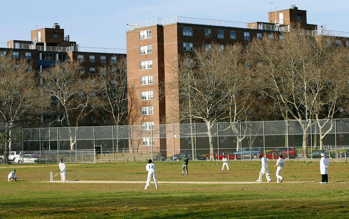 A cricket match takes place at Queens, New York