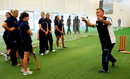 Graham Thorpe talks to Young Coaches of the Year during the ECB Young Coach of the Year Awards at the National Cricket Performance Centre  in Loughborough, September 10, 2014