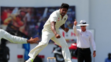 Umesh Yadav struck with the first ball of the day