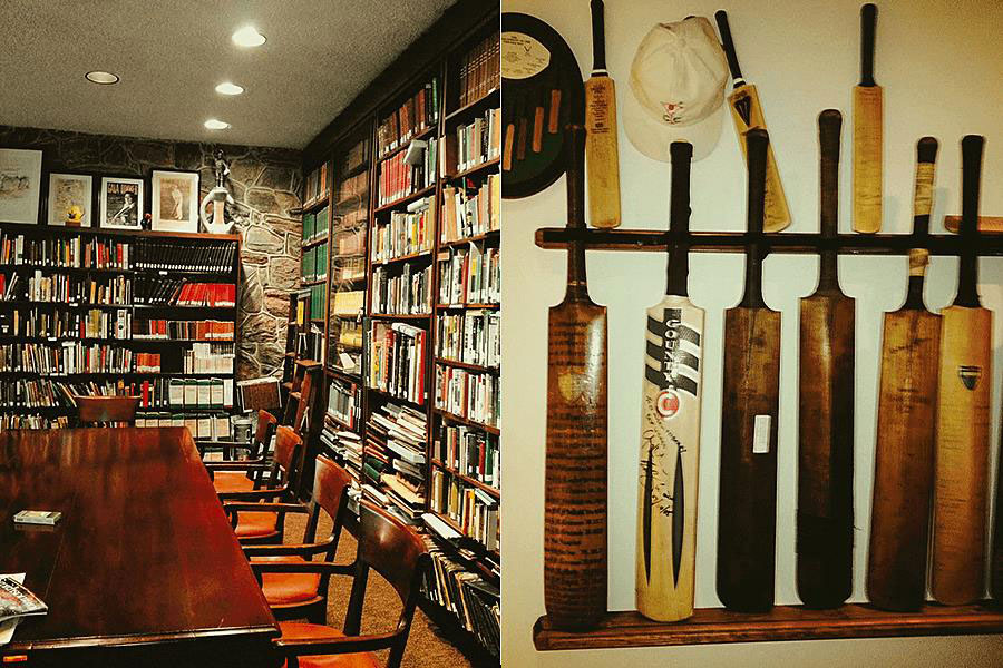 The exhibits at CC Morris Cricket Library and United States Cricket Museum in Haverford