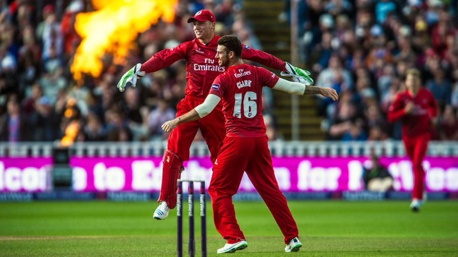 Jos Buttler playing for Lancashire in the NatWest Blast