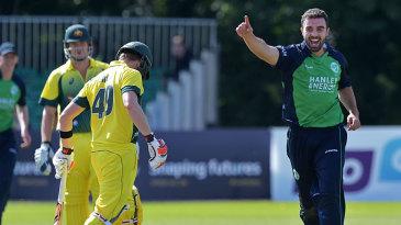 Stuart Thompson removed Steven Smith as Ireland hit back