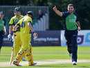 Stuart Thompson removed Steven Smith as Ireland hit back, Ireland v Australia, Only ODI, Stormont, August 27, 2015