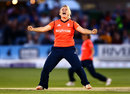 Danielle Hazell shows her emotion, England v Australia, 2nd Women's T20, Hove, August 28, 2015