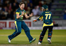 Rene Farrell claimed 3 for 17 to wrap up victory, England v Australia, 2nd Women's T20, Hove, August 28, 2015