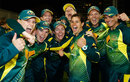 Australia celebrate regaining the Ashes, England v Australia, 2nd Women's T20, Hove, August 28, 2015