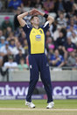 Boyd Rankin shows his despair during a disappointing performance from his side, Northamptonshire v Warwickshire, NatWest T20 Blast, semi-final, Edgbaston, August 29, 2015