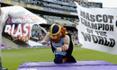 Yorkshire's Vinny the Viking crosses the line as the winner of the 2015 mascot race, Northamptonshire v Birmingham, NatWest T20 Blast, Semi-final, Edgbaston, August 29, 2015