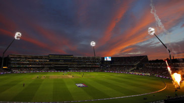 The sunset over Edgbaston