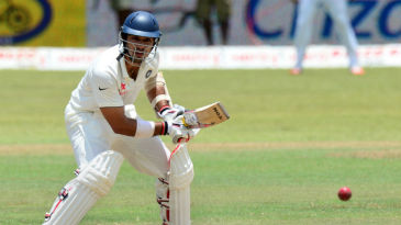 Naman Ojha guides the ball into the off side