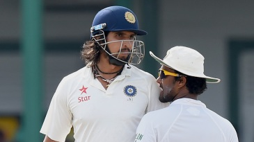 Tempers flare: Ishant Sharma and Dinesh Chandimal got into an altercation