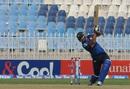 Shahzaib Hasan drills the ball through the off side, Qualifying Round, Group B, Bahawalpur Region v Karachi Region Blues, Rawalpindi, Sep 4, 2015