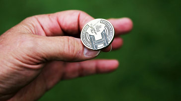 The coin used for the toss