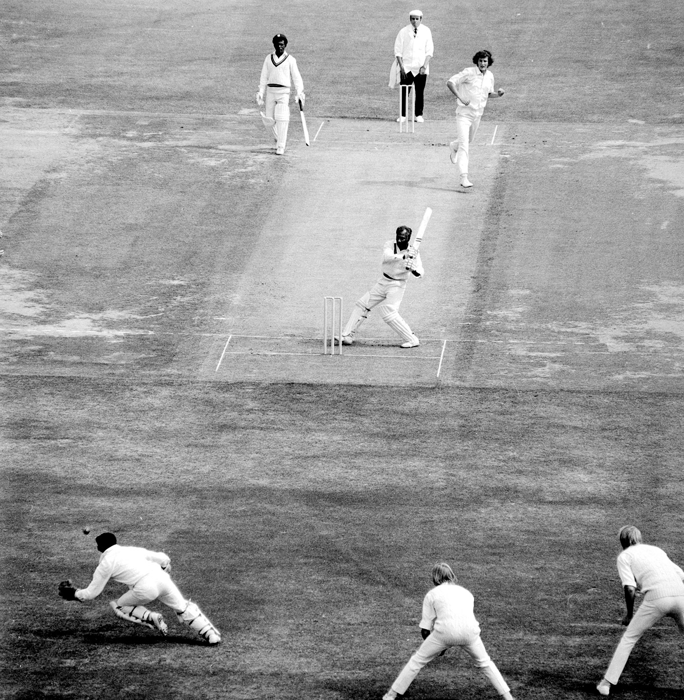 Nothing gets past me: Alan Knott intercepts a ball after Rohan Kanhai swings and misses at Lord's in 1973